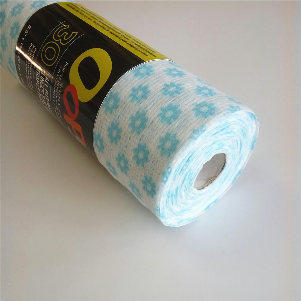 soild 50%vicose 50%polyester non-woven fabric
