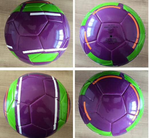 2016 hot sales PU leather soccer ball