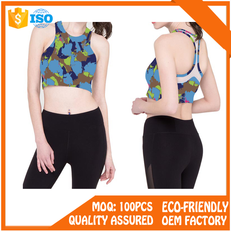 High Quality Private Label Ladies Sport Bra Top