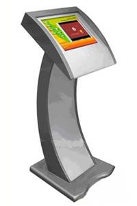 T2 stylish slim and sleek touchscreen information internet kiosk terminal with industrial IPC