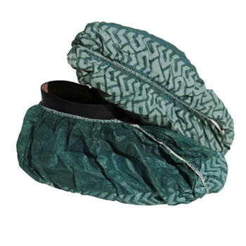 green disposable non-woven nonskid shoe cover for food service