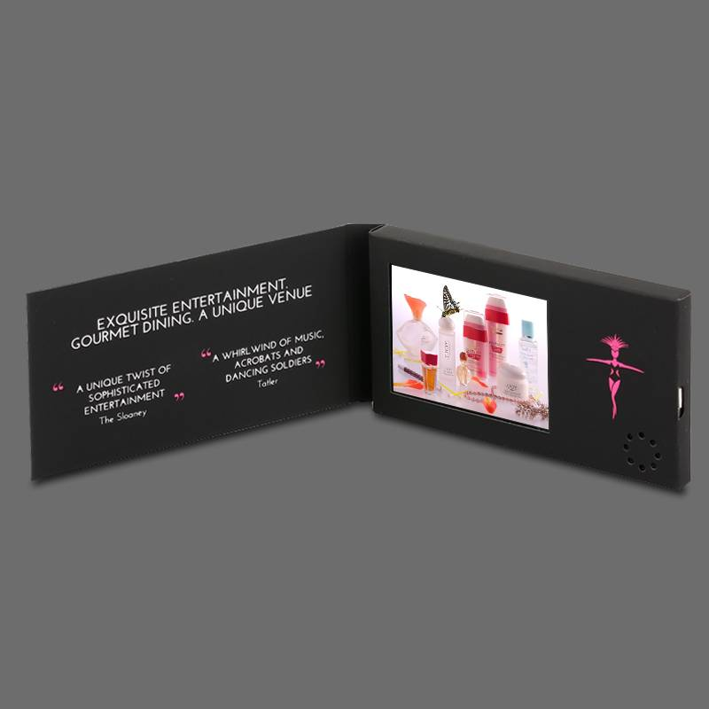 "2.4"" lcd video malier,video name card"