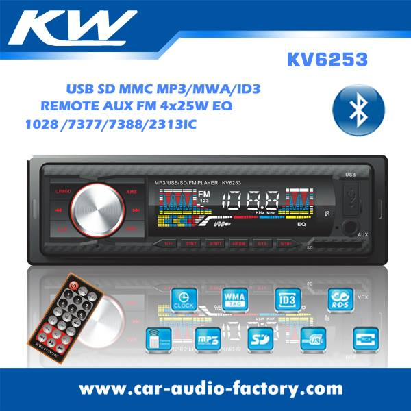 KV6253 LCD Screen Car MP3 Player