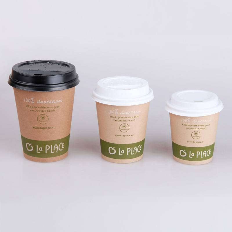 high quality Brown kraft paper cup for hot drinking