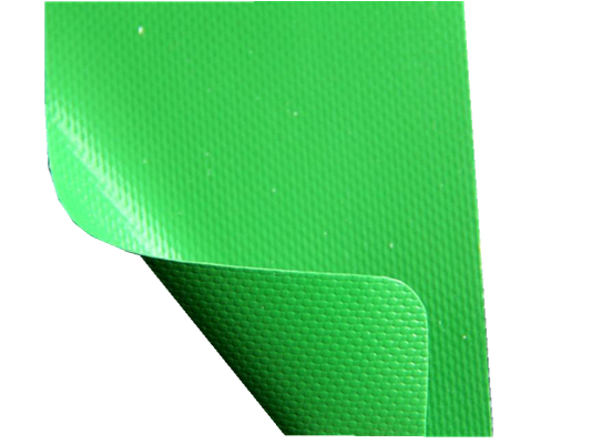 Green / White Fire proof PVC Coated Tarpaulin Fabric for Side Curtain 3030