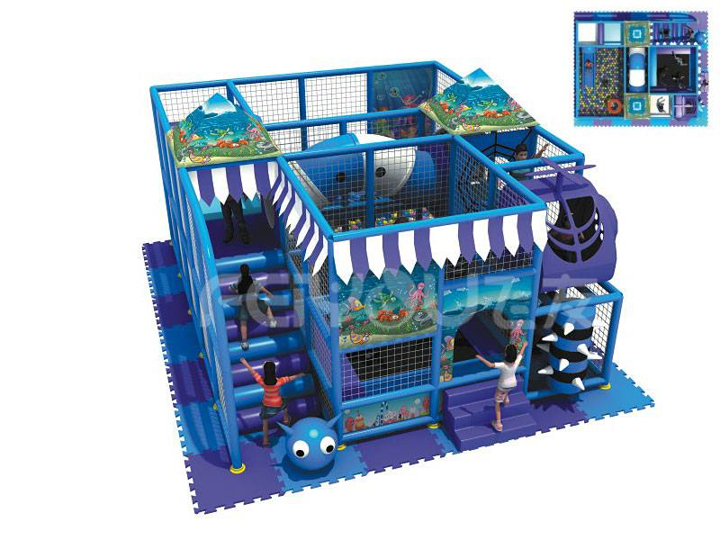 Plastic multifunction naughty castle child indoor soft playground equipment