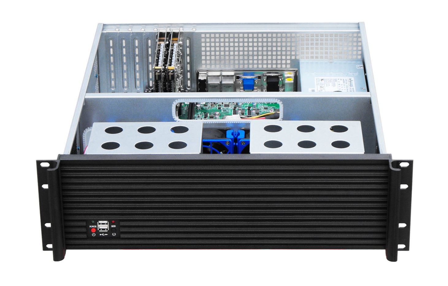 """3U Server Case Support Motherboard Size Up To ATX 12""""9.6"""",83.5""""HDD Bays,2U Standard Power Supply"""