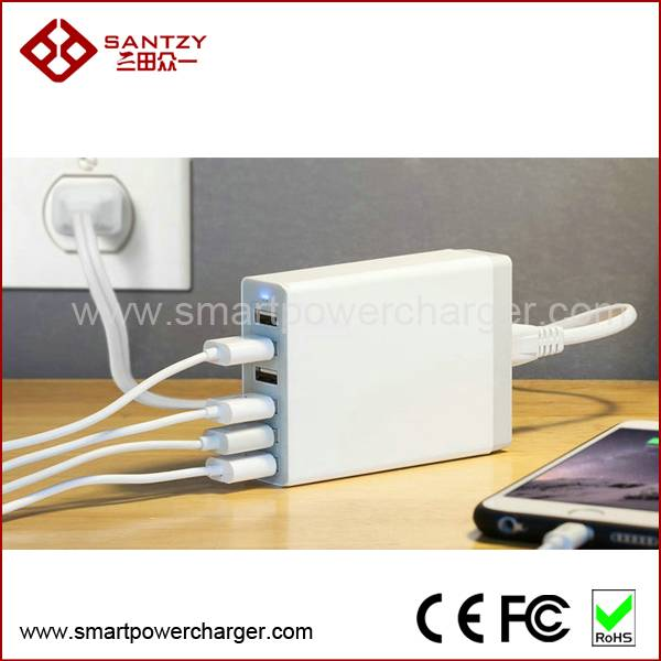 smart power charger wholesale price with smart IC for mobile phone with CE FCC ROHS
