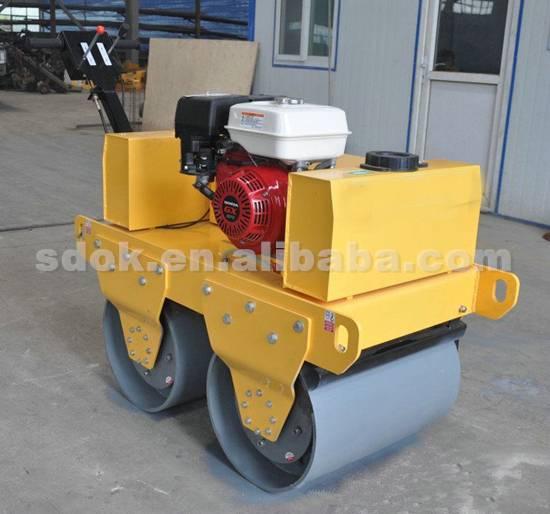 OKR-600C Walking type single steel wheel road roller,smooth wheel roller in machinery,reversible wal