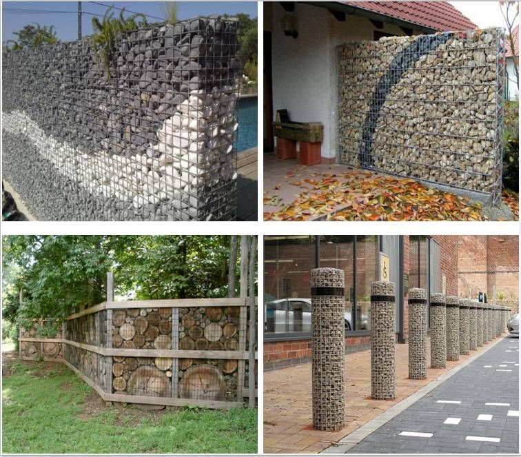High quality gabion mesh fence