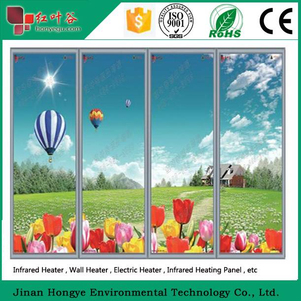 electric panel heater with decorative pictures infrared heater