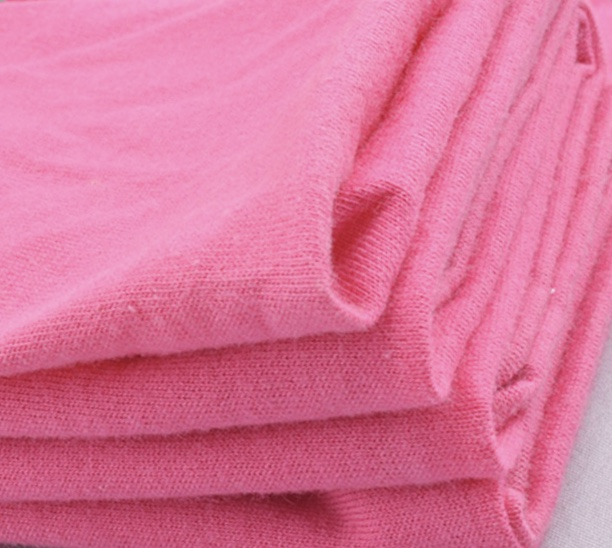 Plain dyed 32s combed yarn knitted spandex cotton jersey fabric
