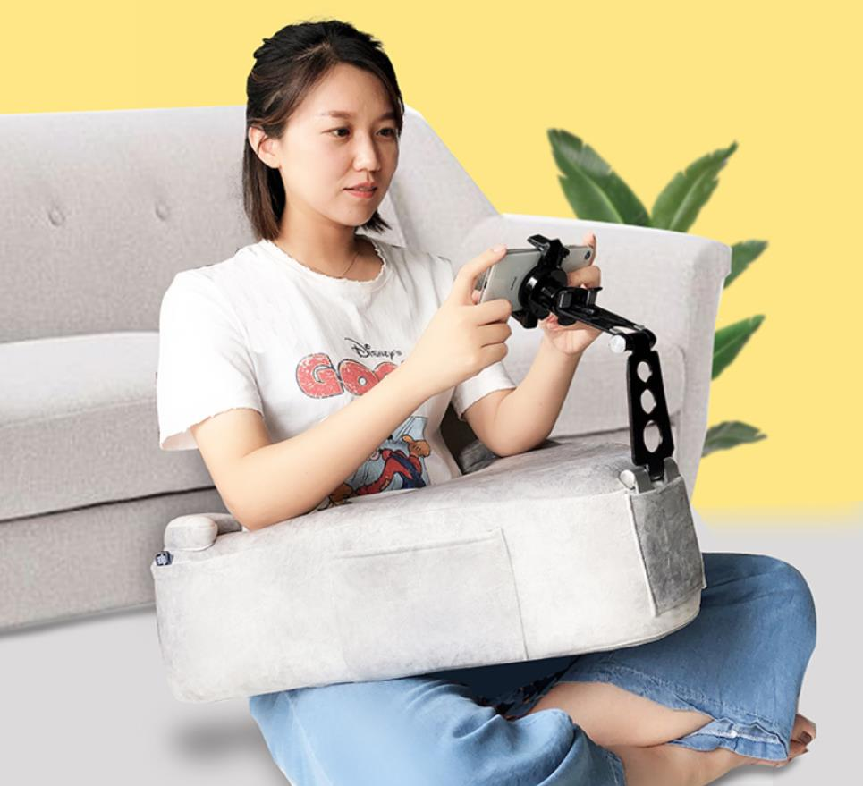 smartphone holder A-shaped cushion special for student teenager home sitting on sofa play mobile