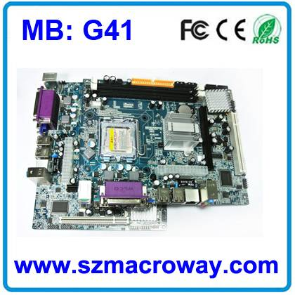 G41 motherboard socket 775 support ddr3 with fully tested and 1year warranty