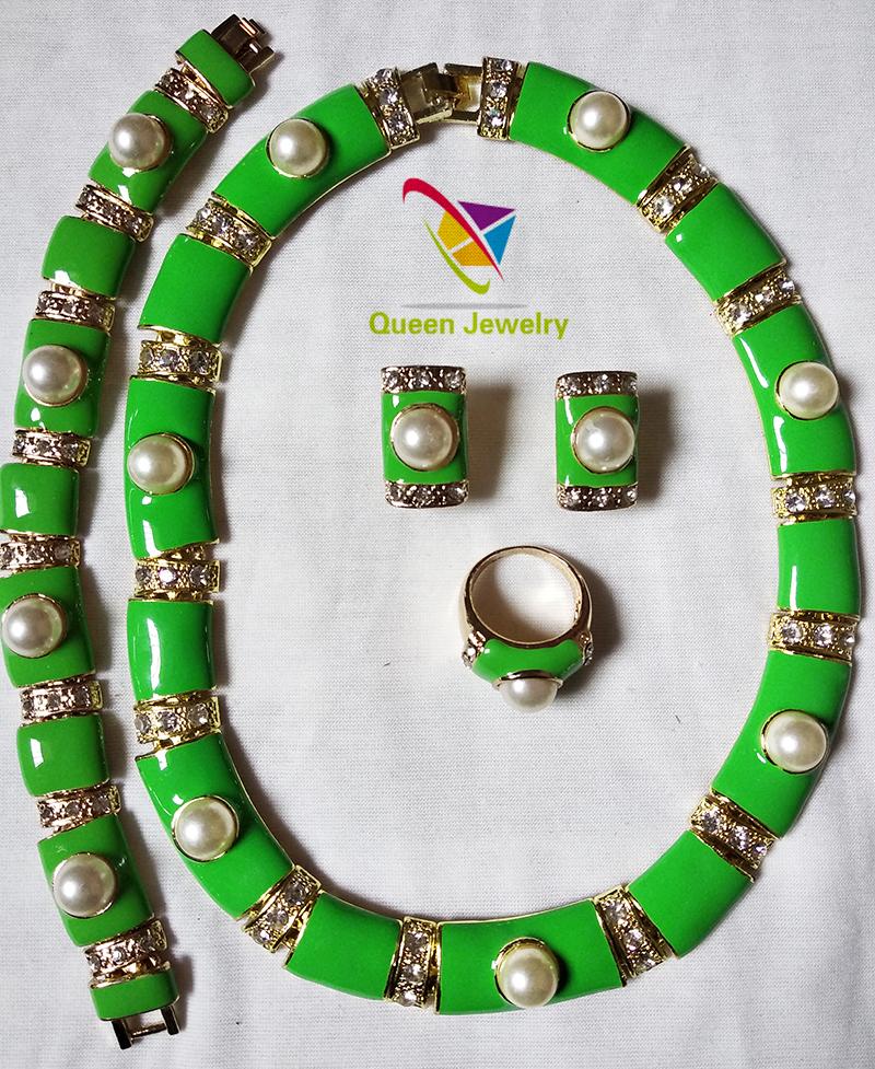 pearl necklace urban diction Manufacturer sale custom design elegant jewelry set