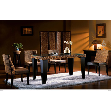 water hyacinth dining set