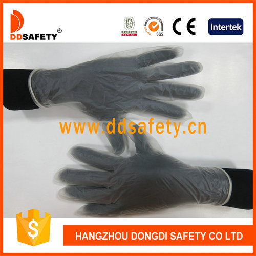 Clear vinyl gloves-DPV701