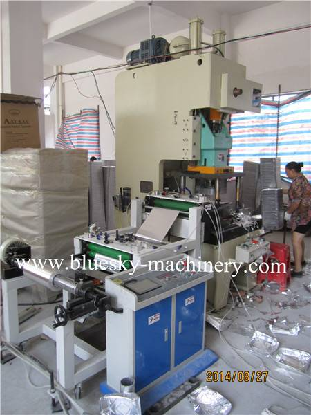 Semi auto aluminum foil container machine 45T