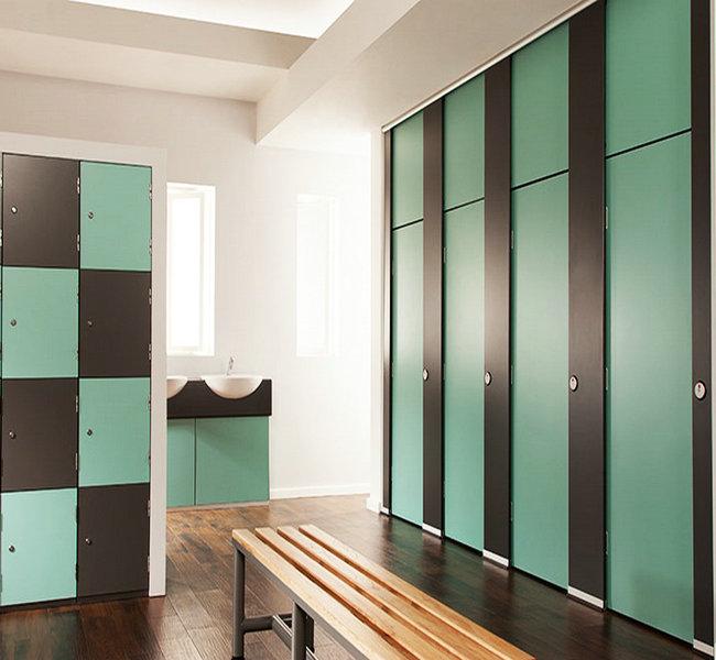 Rich-Lees Waterproof hpl compact laminate key locker for fitness spa center
