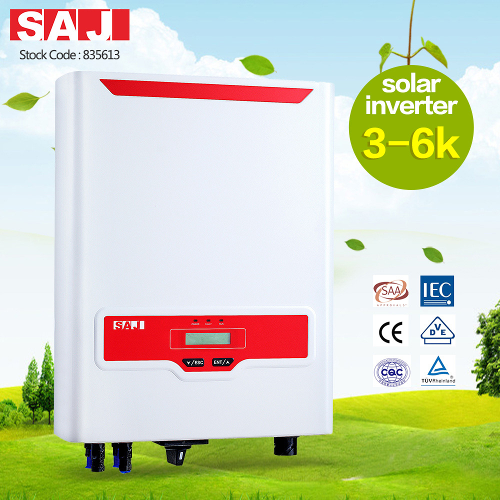 SAJ high quality Rooftop Single phase 1 MPPT On-grid solar inverter for house