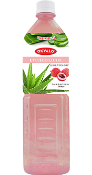 Lychee Aloe Vera Juice with Pulp Okeyfood in 1.5L Bottle