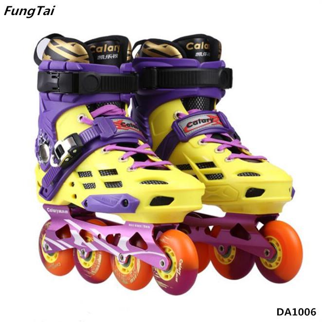Roller Inline Skate Street Slalon Patins Shoes 4 Wheels for Men Women (DA1006)