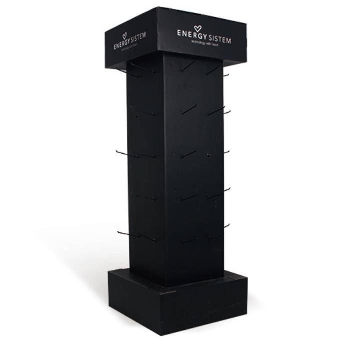Cardboard floor display stand rack with peg design