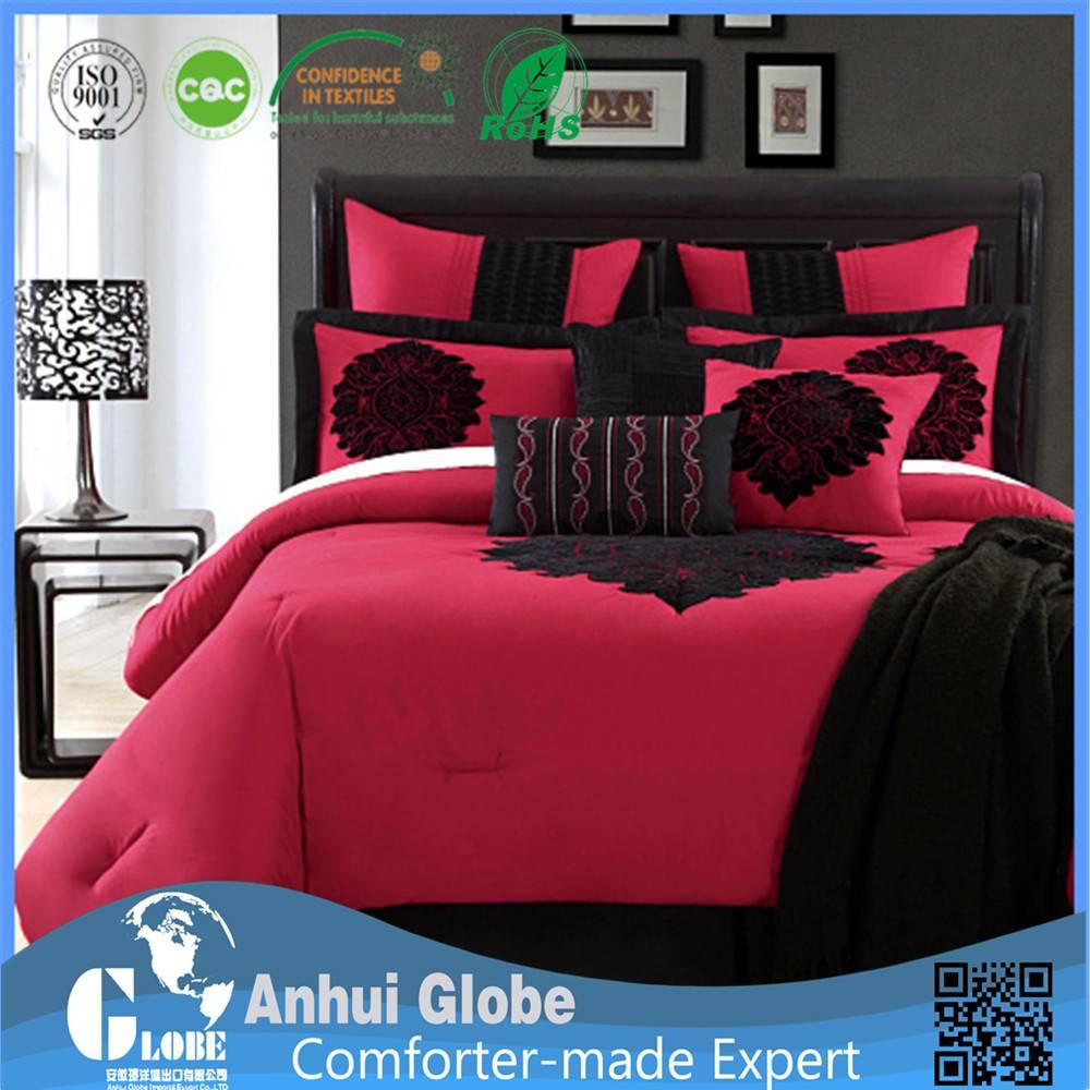 red black comforter