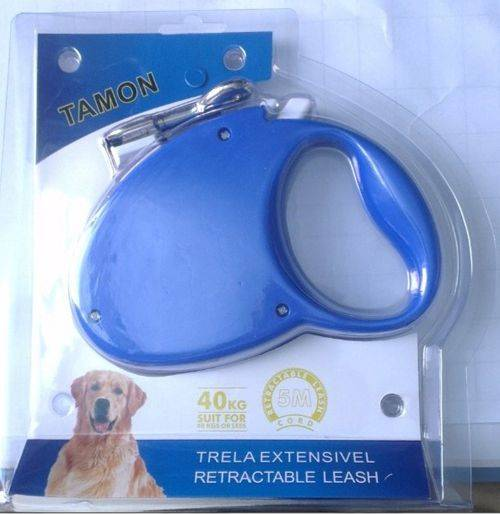Blue Color Simple Dog Retractable Leash with buckle