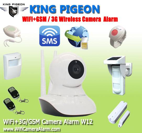 3g gsm video camera security alarm W12