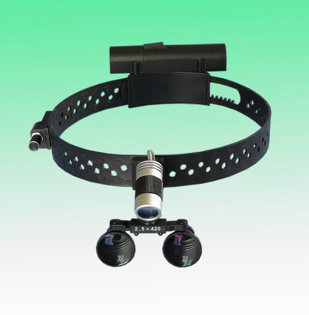 surgical LED headlight with magnifier loupe