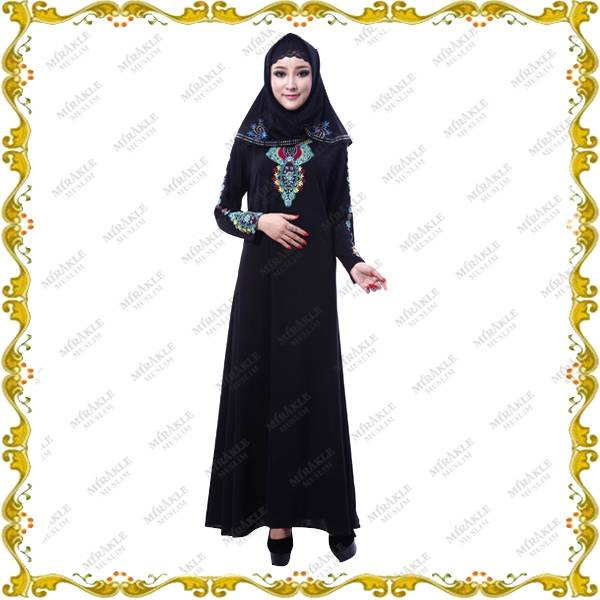 Mirakle Hot Black Designed Abaya
