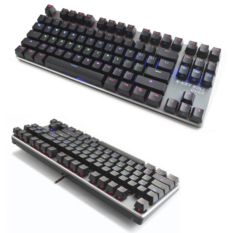 Backlit Compact-size Mechanical Gaming Keyboard GKB-087C