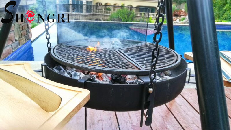 Tripod Hanging Outdoor Charcoal BBQ Grill