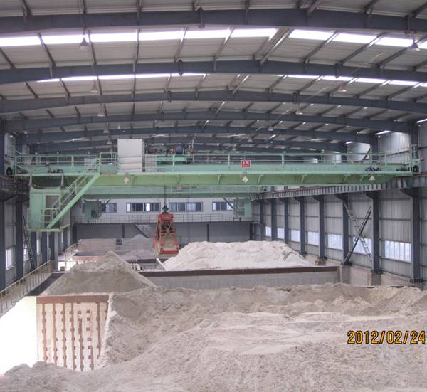 QZ Model Double Girder Grab Overhead Crane 5 ton