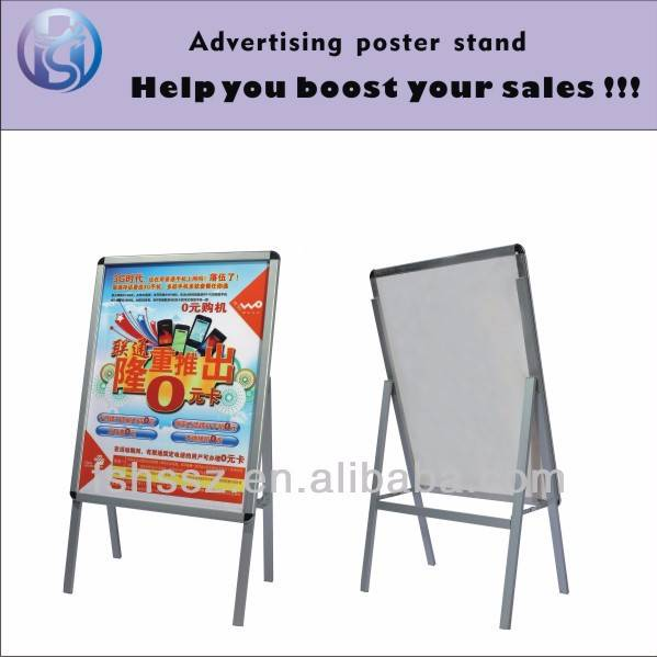 Single side new inventions aluminium extrusion poster stand H1