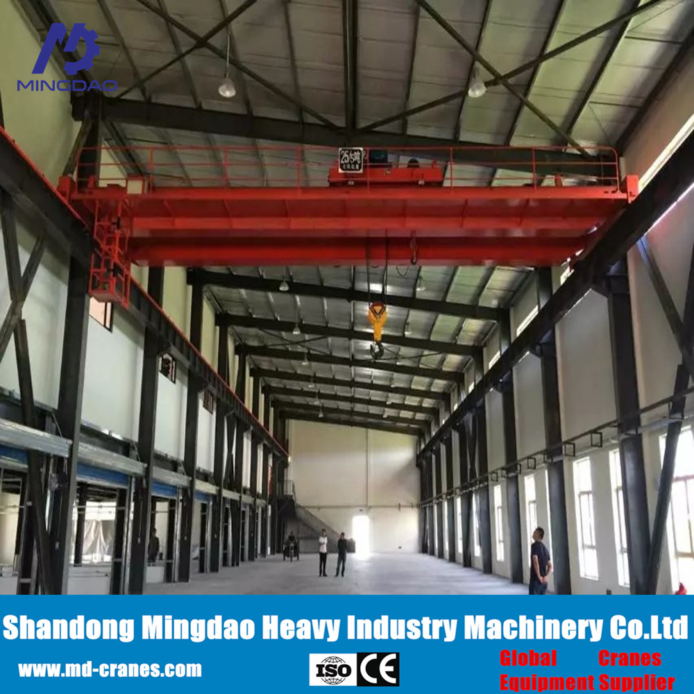 Heavy Duty Lift Capacity Workshop Used Double Girder Overhead Crane