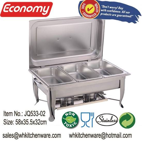 Party or restaurant food warmer stainless steel folding leg chafer