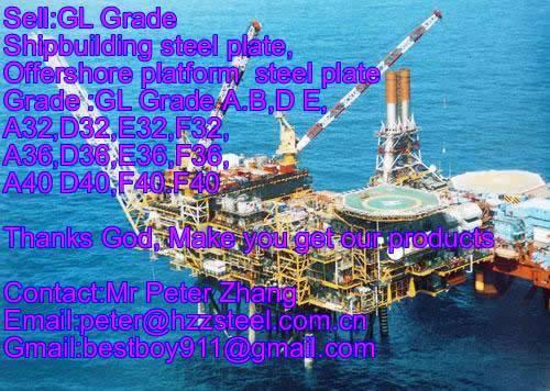 Sell :Shipbuilding steel plate,Grade,GL/A40,GL/D40,GL/E40,GL/F40,steel plate/sheets/Material/Spec/A1