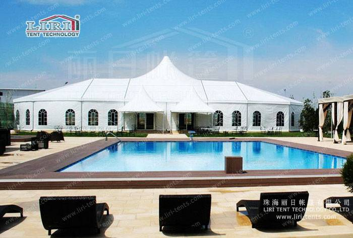 1000 people luxury high peak tent for weddings for event party in Romania