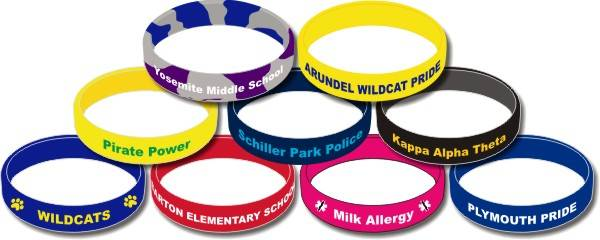 Silicone Bracelet for printed logo