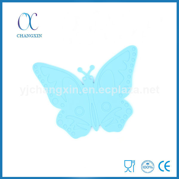 New Fancy High Temperature Insulation Butterfly Shape Silicone Cup Mat