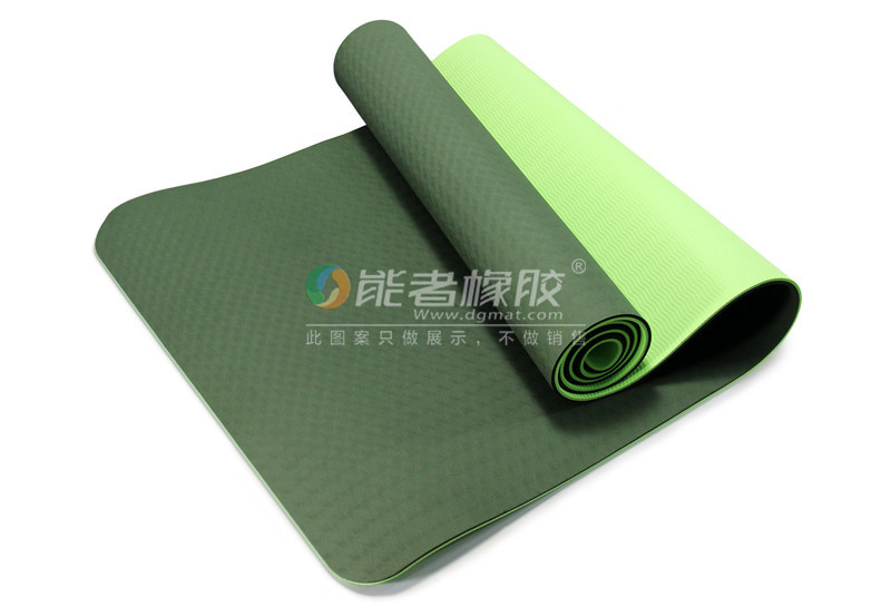Yoga Mat with Symmetry Lines PU Yoga Mat Wet-Grip Surface