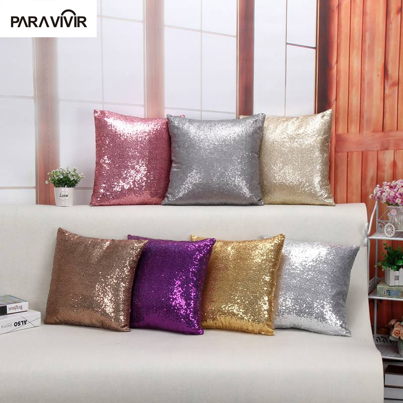 Mermaid Glitter Sequins Cushion Covers For Home Decor Square 4040 CM Bling Decorative Throw Pillows