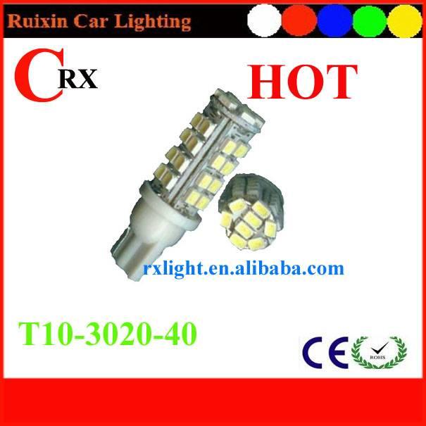 Hot T10 wedge 40 3020 auto bulb LED car lamp light