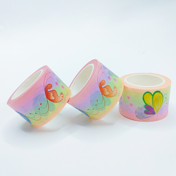 Wholesale custom made printing Japanese colorful washi masking tape without residue