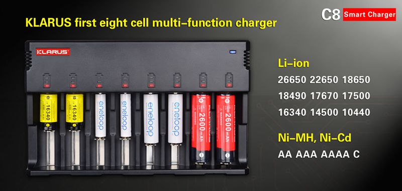 8 Cell Multi-function charger-Klarus C8