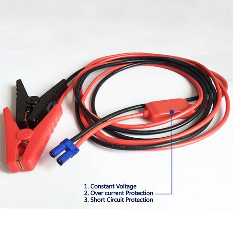 Crocodile Clips To EC5 Plug Quick Connector Cable
