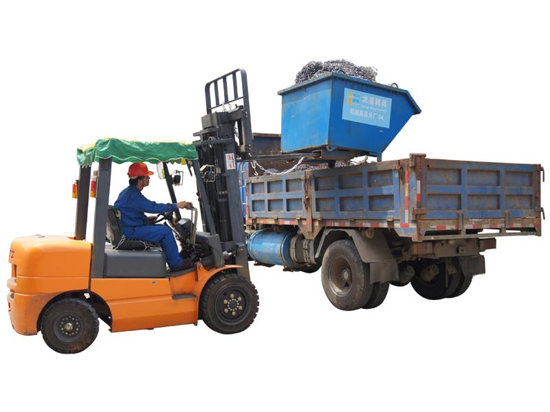 Forklift Attachment Tipping Bin