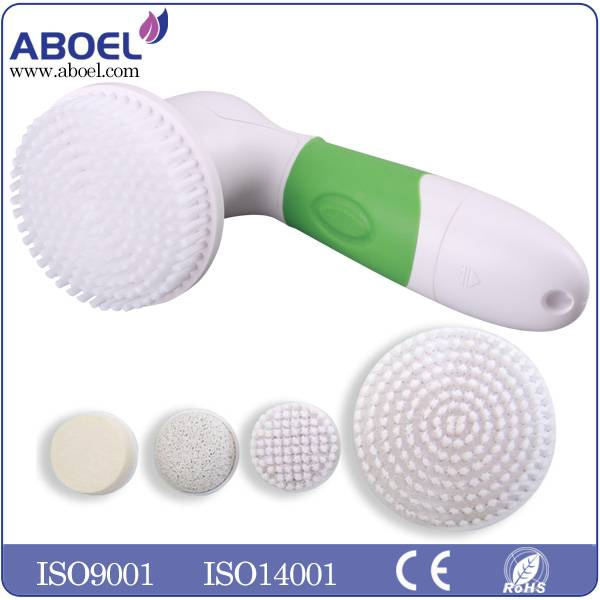 4pcs AA Battery Electric Facial Cleansing Brush For Removing Black Head
